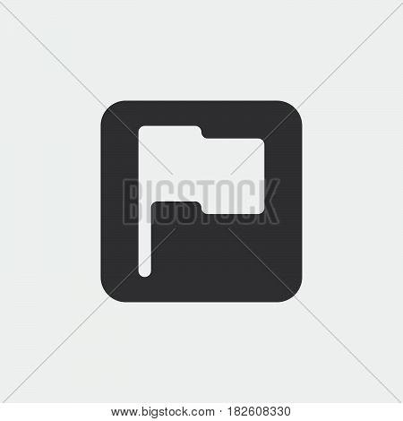 Flag icon isolated on white background .
