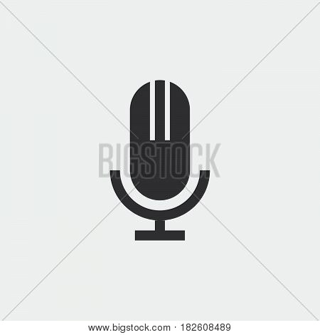 microphone icon isolated on white background .