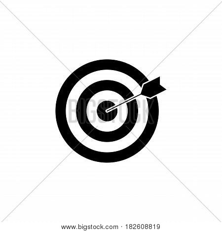Target keyword solid icon, seo and development, Darts sign, a filled pattern on a white background, eps 10.