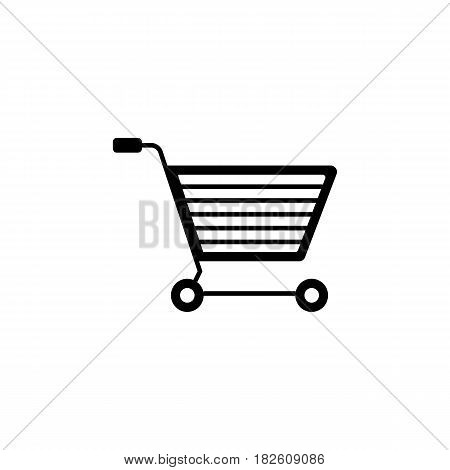 E-commerce solid icon, seo and development, shopping cart sign, a filled pattern on a white background, eps 10.