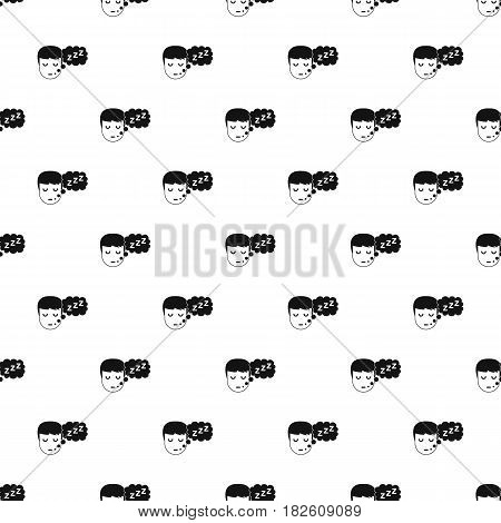Boy head with speech bubble pattern seamless in simple style vector illustration