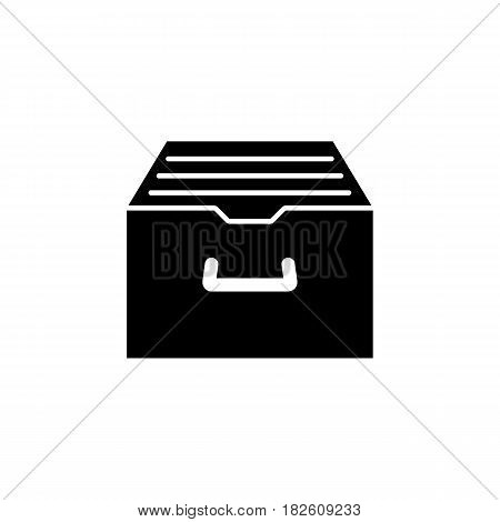 Archive storage solid icon, seo and development, file storage sign, a filled pattern on a white background, eps 10.
