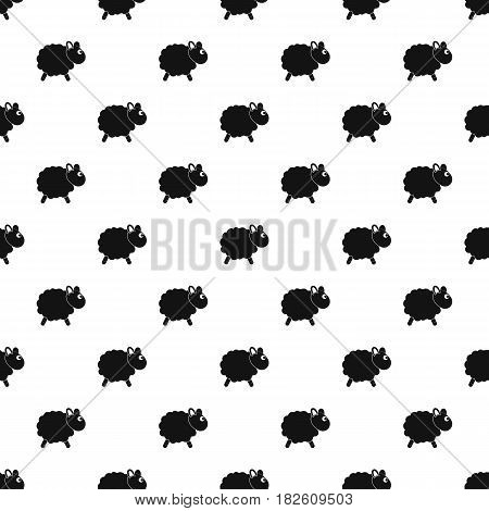 Sheep pattern seamless in simple style vector illustration