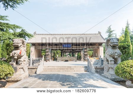 Shanxi, China -  Aug 23 2015: Emperor Shun Tomb Soenic Spot. A Famous Historic Site In Yuncheng, Sha