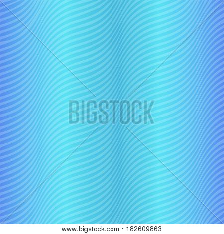 Wavy Striped Pattern of Dark and Light Blue Colors. Satin Fabric Effect. Vector EPS 10