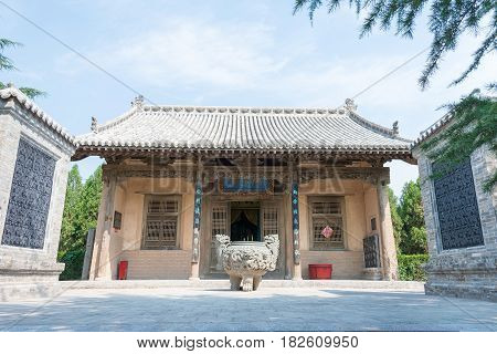 Shanxi, China -  Aug 23 2015: Guangong Temple(guandi Temple) At Emperor Shun Tomb Soenic Spot. A Fam