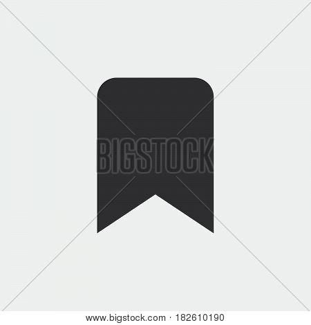 bookmark icon isolated on white background .