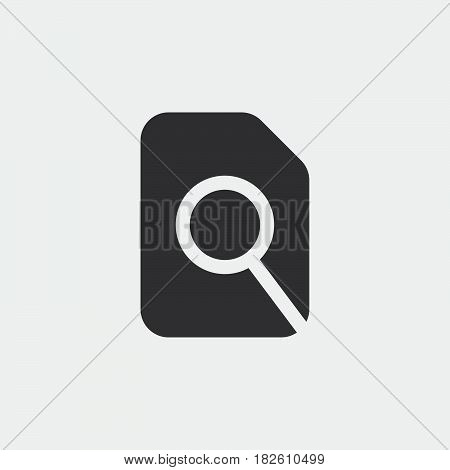 Search in file icon isolated on white background .