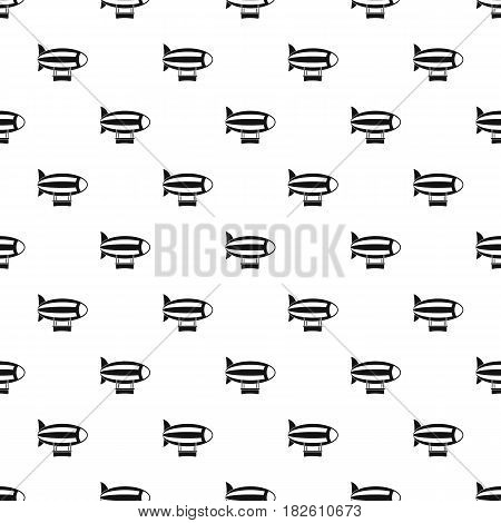 Striped dirigible pattern seamless in simple style vector illustration