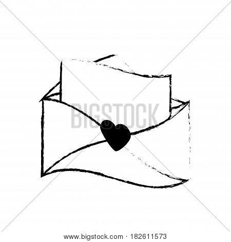 message letter love romace sketch vector illustration eps 10