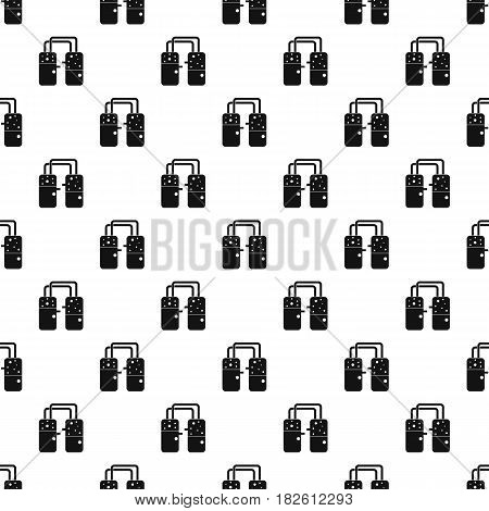 Containers connected with tubes pattern seamless in simple style vector illustration
