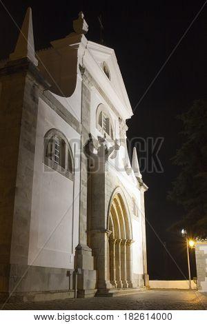 The Church of Santa Maria do Castelo at night Tavira Algarve Portugal