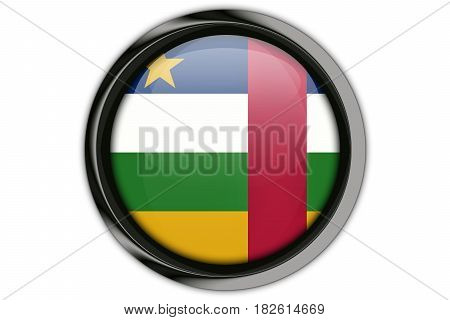 Central Africa Rep Flag In The Button Pin Isolated On White Background
