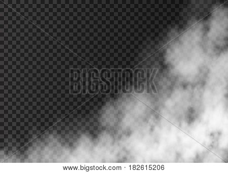 White Smoke  Isolated On Transparent Background.