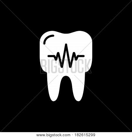 Tooth, dental diagnostics and toothpaste icons. Dentinal linear sign. Eps 10