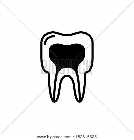 medical structure of the tooth icon. vector line illustration. Eps 10