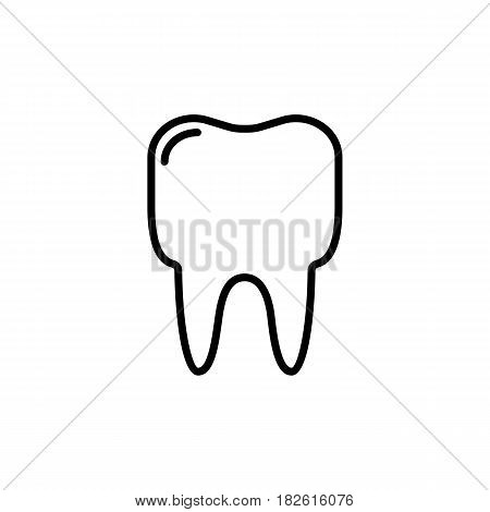 Outline tooth icon vector illustration on white background. eps 10