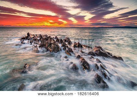 Sunset at Galley Head, Co. Cork Ireland