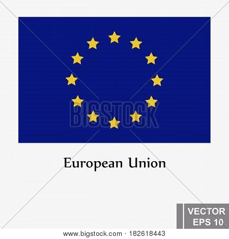 Flag. European Union. Banner. A Country. For Your Design.