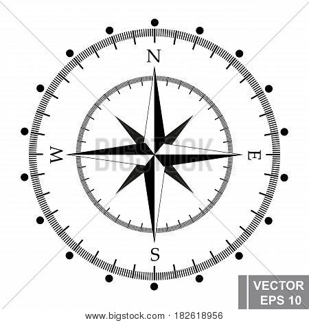 Compass. Navigation. Way. The Black. The Icon. For Your Design.