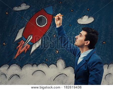 Business Rocket Startup