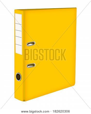 Yellow file Folder. ring binders . icon with yellow folder
