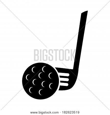golf clubs equipment icon vector illustration design
