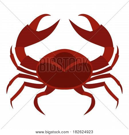 Red sea crab icon flat isolated on white background vector illustration