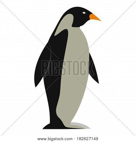 Penguin icon flat isolated on white background vector illustration