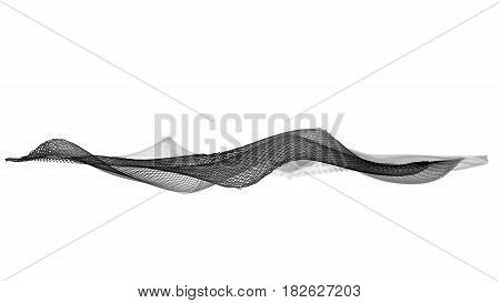 3d illustration of abstract wave structure against a white background
