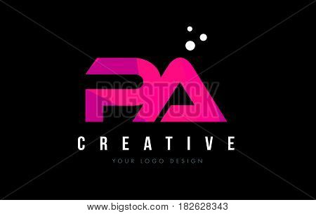 Pa P A Letter Logo With Purple Low Poly Pink Triangles Concept