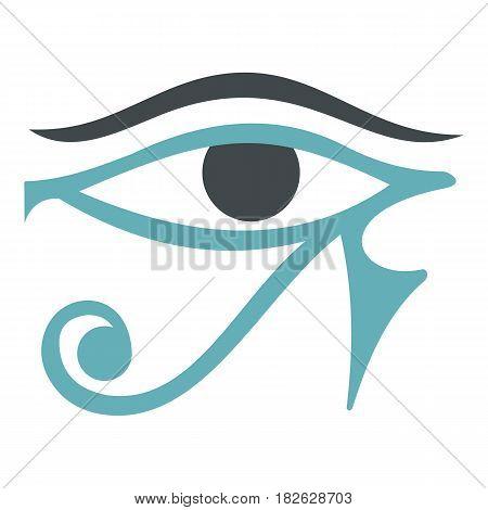 Eye of Horus icon flat isolated on white background vector illustration