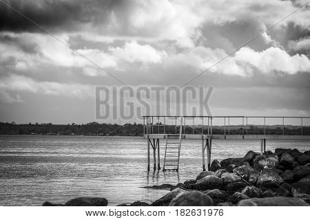 Jetty With A Small Bridge