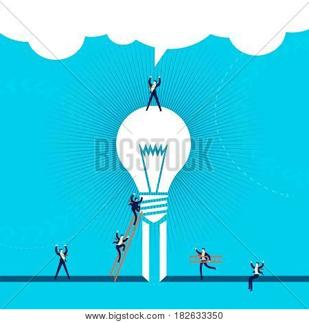 Business Idea Success Concept Illustration