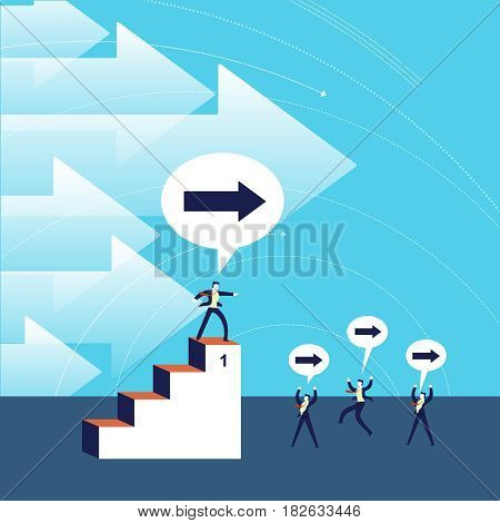 Business Leadership Success Concept Illustration