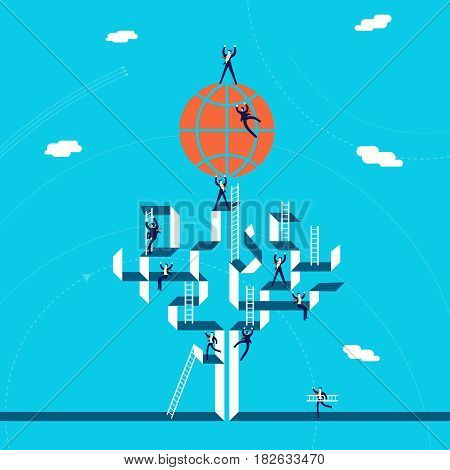 Global Business Success Concept Illustration