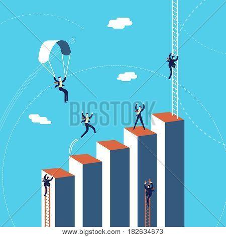 Business Team Success Graph Concept Illustration