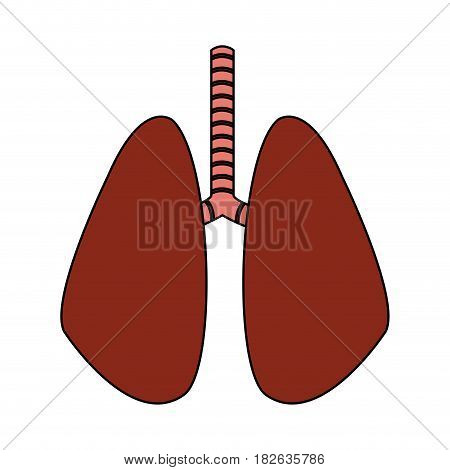 set of human lungs icon image vector illustration design