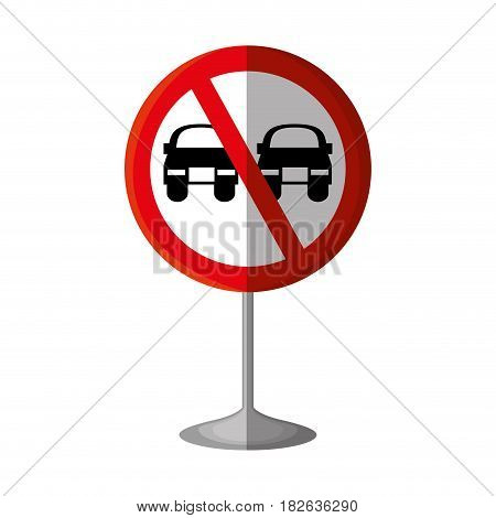 no overtaking traffic signal vector illustration design