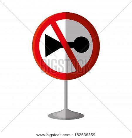 do not whistle traffic signal vector illustration design