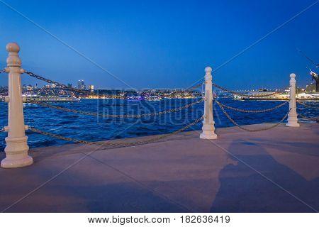 A view of phosphorus from uskudar seaside