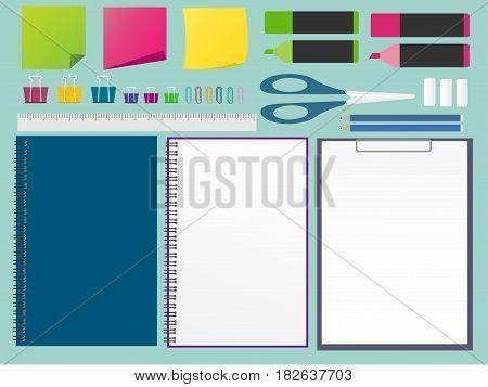 set of stationery design elements, Vector ESP 10