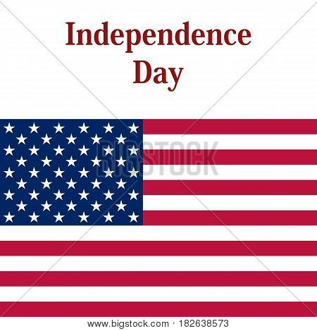 Independence Day in the United States of America. vector