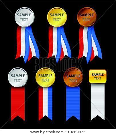 Vector USA Patriotic Ribbed Ribbons Set II