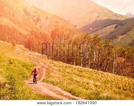 Mountain biking in Crested Butte Colorado .