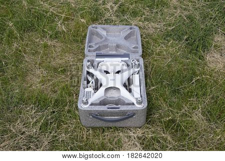 Open Case With Quadrocopters Dji Phantom 4