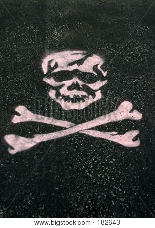 Stenciled Skull