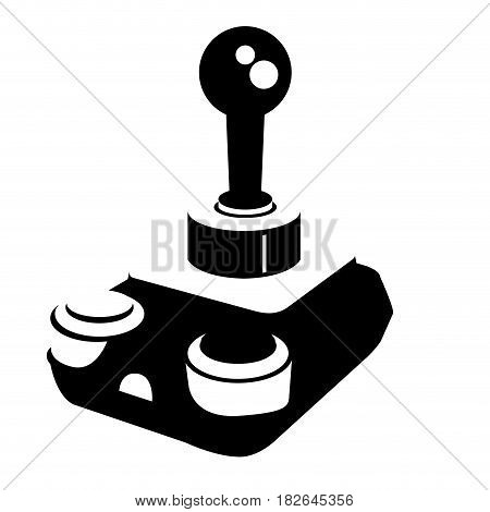 Isolated silhouette of a joystick, Vector illustration