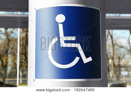 Sign of handicapped on parking place