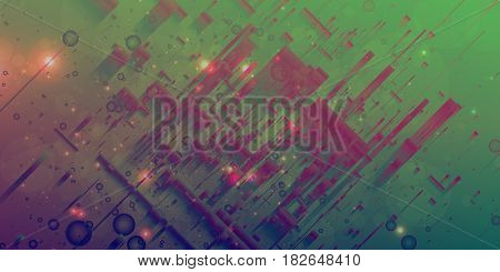 Abstract vector mesh background. Random polygons and flares. Futuristic technology style. Elegant background for business presentations. Flying debris. eps10